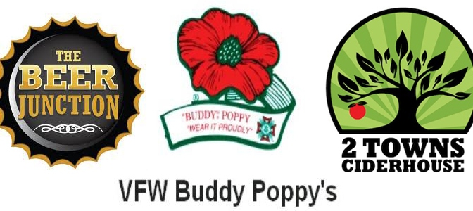 Cider Tasting and Buddy Poppies at the Beer Junction Today from 5pm – 8pm