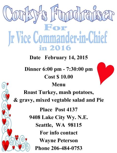 CORKY'S FUNDRAISER DINNER